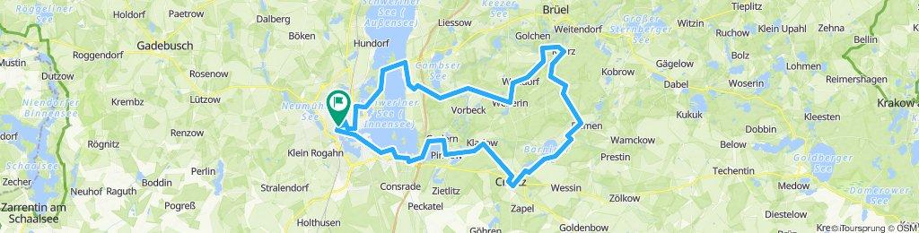 Schwerin-Rundtour: Crivitz - Kaarz - Rampe