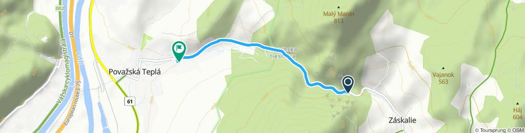 Stredná trasa Považská Teplá