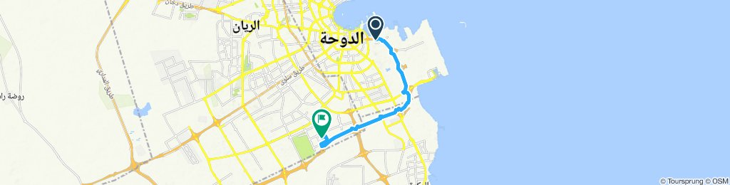 Relaxed route in Al Rayyan
