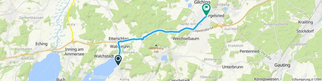 Route im Schneckentempo in Gilching