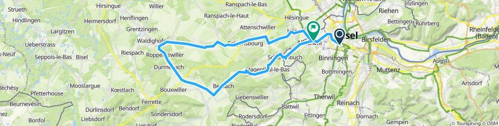 Schöne Zweiländertour Schweiz/Frankreich