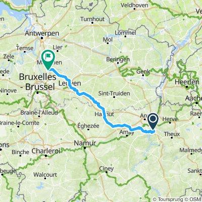 Embourg via Seraing naar Mechelen