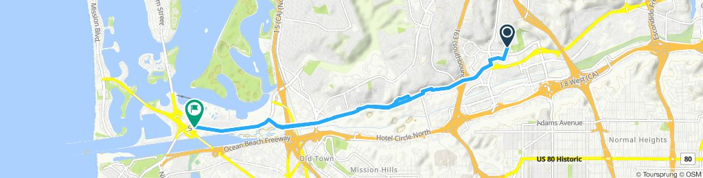 Usual route Mission Valley