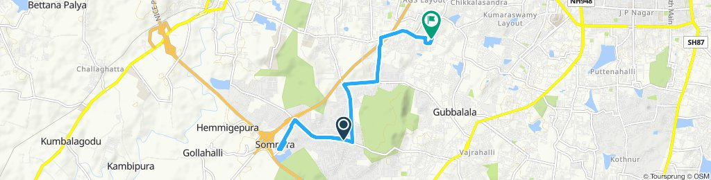 Relaxed route in Bengaluru