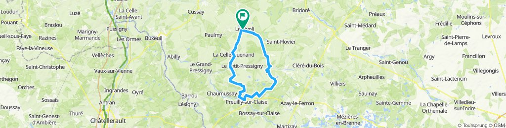 BETZ-LA CELLE-PETIT PRESSIGNY-CHARNISAY-47KM
