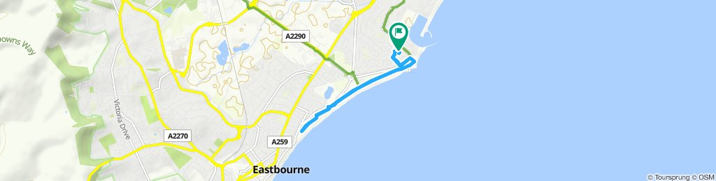 Relaxed route in Eastbourne