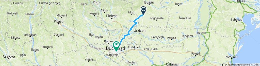 Spataru, jud. Bz spre Bucuresti