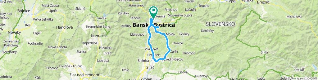 Sásová - Dolná Mičiná - Lukavica - Veľká Lúka - Iliaš - Sásová