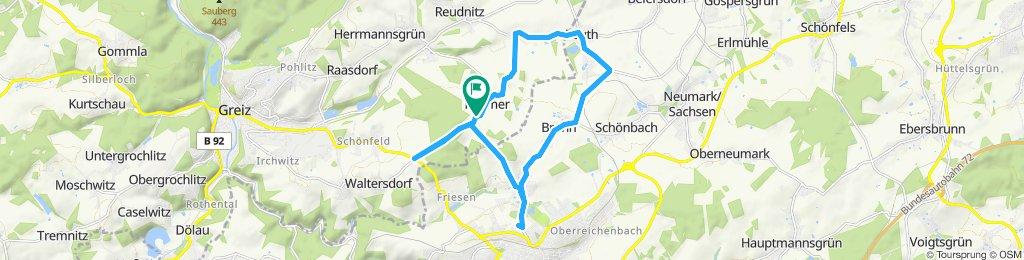 Gemütliche Route in Mohlsdorf-Teichwolframsdorf