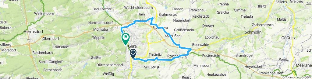 Gemütliche Route in Gera