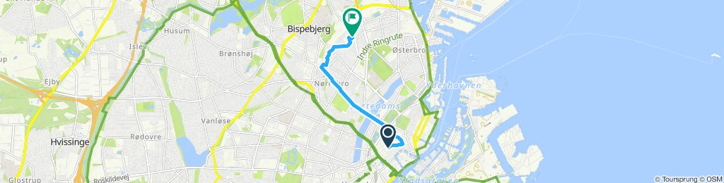 Moderate route in Copenhagen