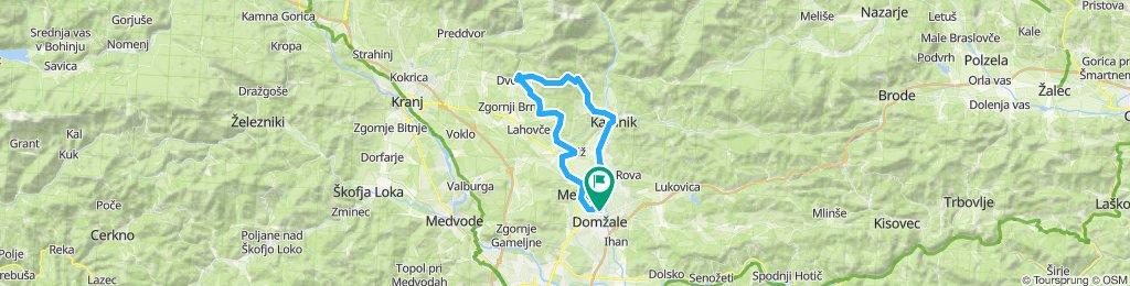 Domžale-Cerklje-Šenturška-Kamnik-Domžale