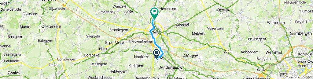 Slow ride in Aalst