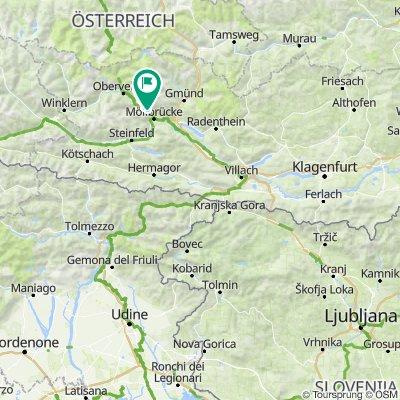 Alpe Adria Trail - Socatal Wanderweg
