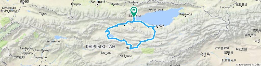 Kyrgyzstan bike loop for 2 weeks