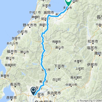 Kyoto - Kurobe (Revised route)