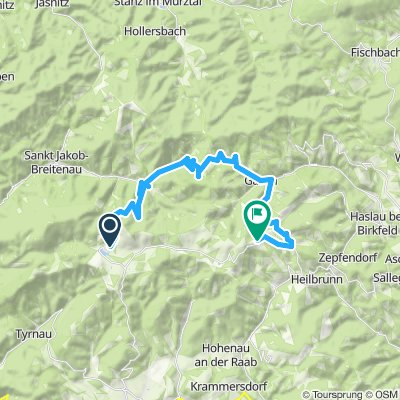 Moderate Route in Sankt Kathrein am Offenegg