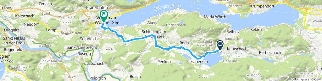 Route im Schneckentempo in Velden am Wörther See
