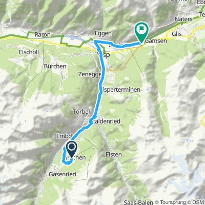 Gemütliche Route in Brig