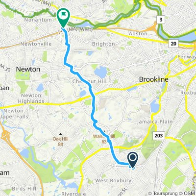 Steady ride in Newton