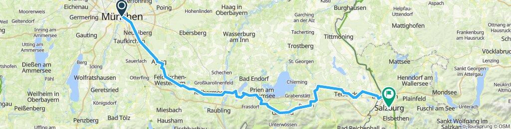 Munich - Salzburg 170 km