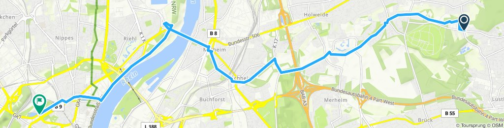 Moderate Route in Köln