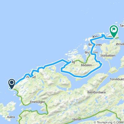 Norskekysten sør-nord etappe 3.3 (18. juli) Bud-Averøy-Kristiansund