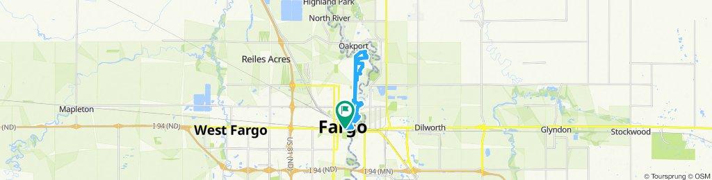 northern fargo neighborhood ride! lots of nice streets