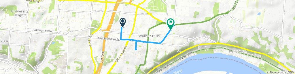 Moderate route in Cincinnati