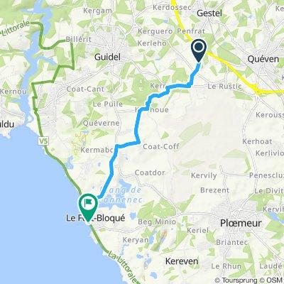 Langsame Fahrt in Ploemeur
