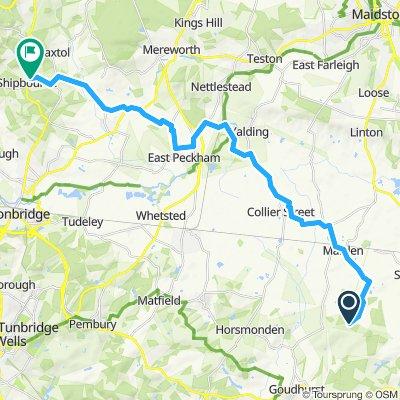 Snail-like route in Tonbridge