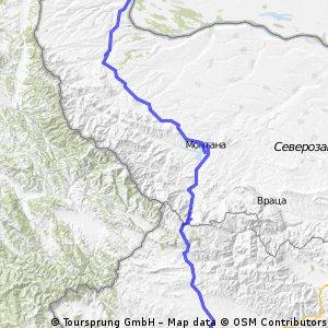 8. Etappe: Vidin - Sofia CLONED FROM ROUTE 422522