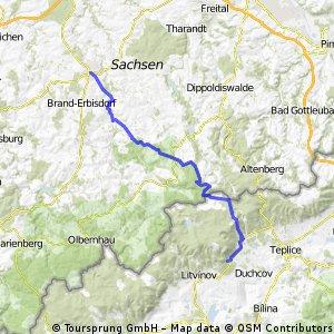 Freiberg durchs Gimmlitztal nach Osek
