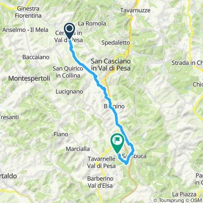 Moderate route in San Casciano in Val di Pesa