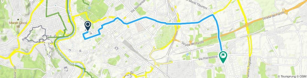 Giro a velocità costante in Roma