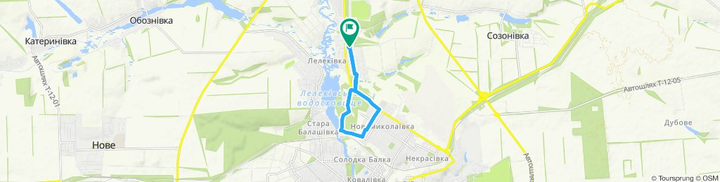 Moderate route in Kropyvnytskyi