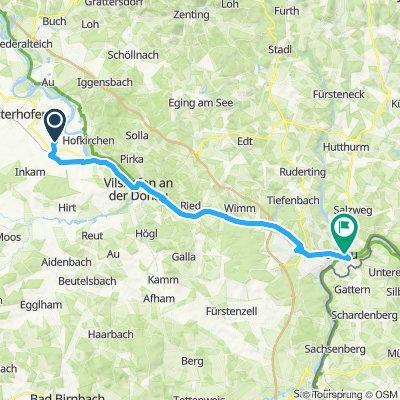 Gerade Fahrt in Passau