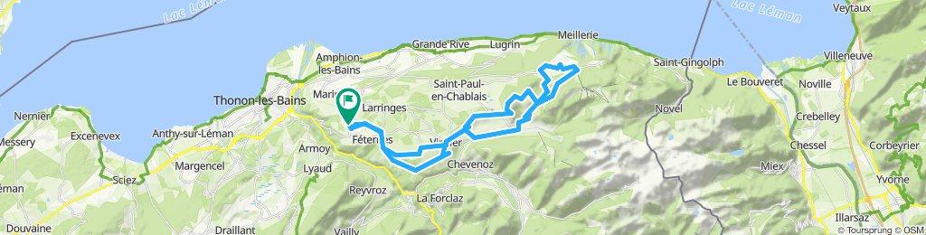 Féternes /Thollon-les-Mémises via Mont-Bénand et le bois de La Licorne
