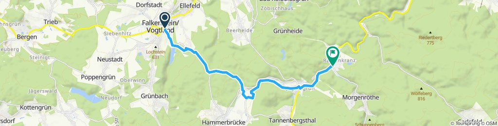 Langsame Fahrt in Muldenhammer