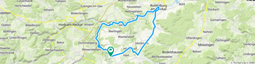 Trillfingen - Rottenburg - Trillfingen