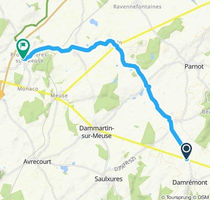 Maasradweg 1: Quelle bis Montigny-le-Roi