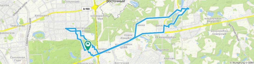 Велокурьерские ездки 4 июя 2019 Первомайская - Балашиха (двойная) Балашиха-1 и Балашиха-2