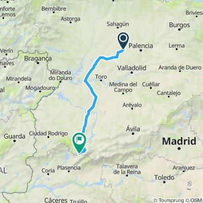 EuroVelo 1 - Part 32 - From Capillas to Baños de Montemayor