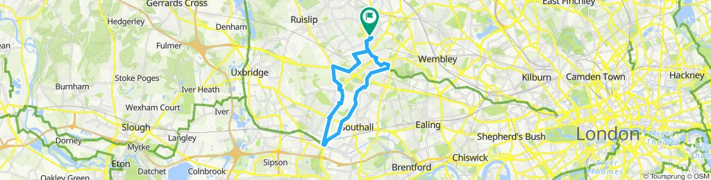 canal route Hayes to Harrow