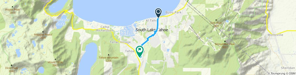 Easy ride in South Lake Tahoe