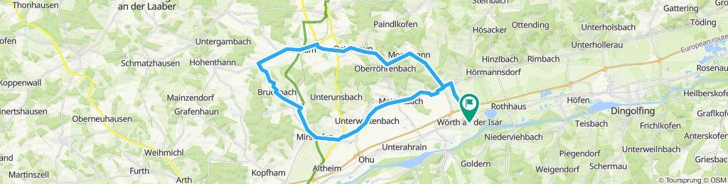 Wörth-Martinshaun-Kläham-Unkofen-Bruckbach-Artlkofen-Mirskofen-Essenbach-Grießenbach-Wörth