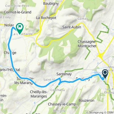 BG - DAG 2 B maandag - Van Station Chagny naar Hotel - 16km 160hm
