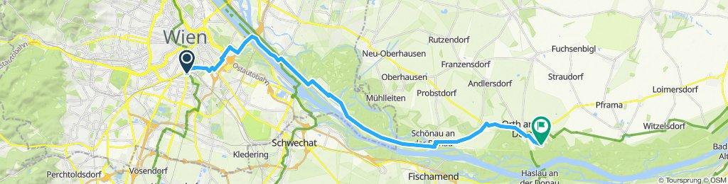 Einfache Fahrt in Wien Orth