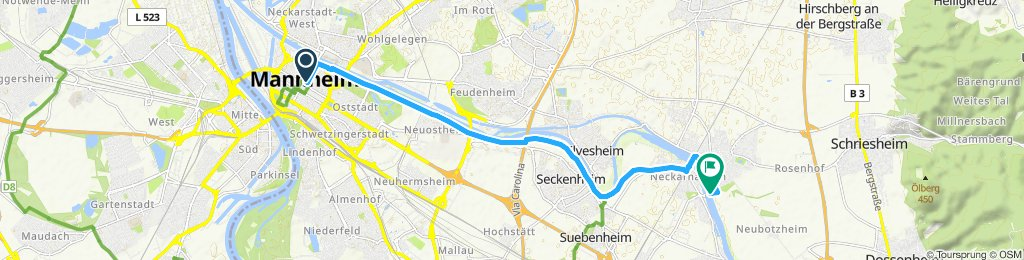 Relaxed route in Ludwigshafen am Rhein