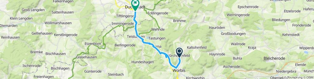 Gemütliche Route in Duderstadt